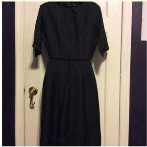 Vintage Dresses - Vintage Black Office Dress